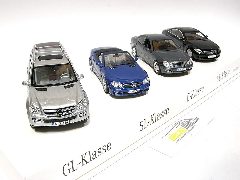 "Mercedes-Benz 2006 SET ""Vier Neue Sterne"" GL-klasse / SL-klasse / E-klasse / CL-klasse"