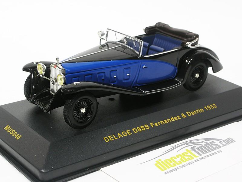 Delage D8SS Fernandez & Darrin 1932 Blac/Blue