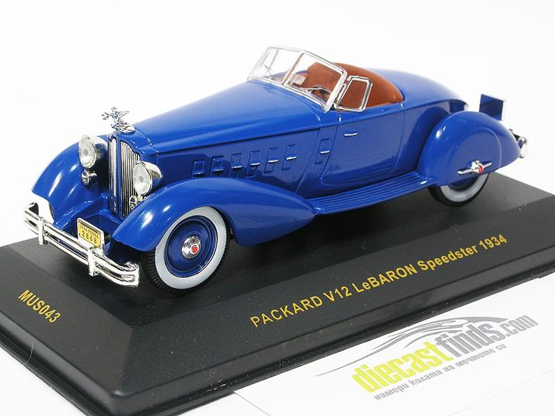 Packard V12 LeBaron Speedster 1934 Blue