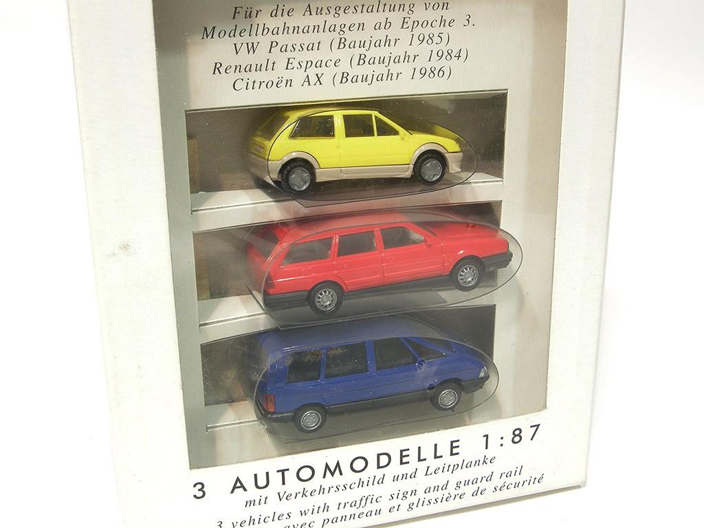 3 Cars Set - AX, Passat, Espace
