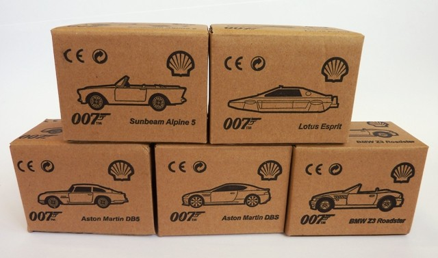 James Bond Shell Collection 5 cars
