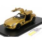 Mercedes SLS AMG 2009 Golden Open Wings Doors